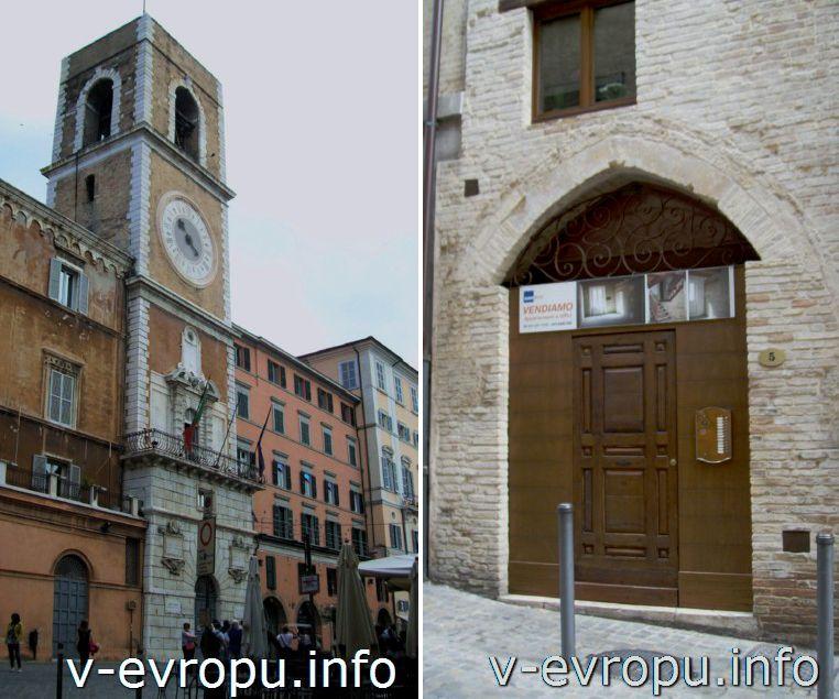 Анкона. Площадь Папы (Пьяцца Плебесцито). Фото. Городская Башня.