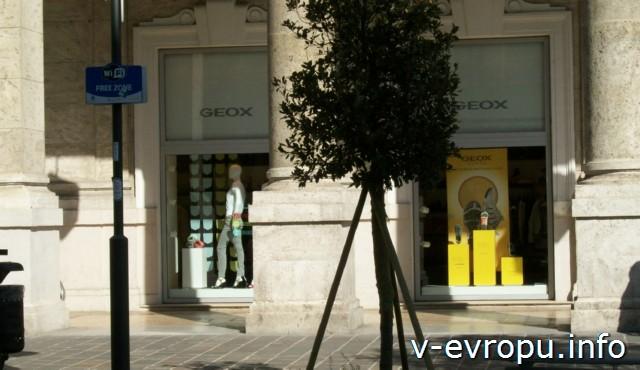 Улицы Пескары: корсо Умберто с зоной бесплатного wi-fi