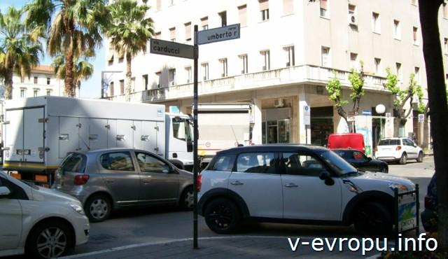 Пескара. Италия. Обозначение улиц.