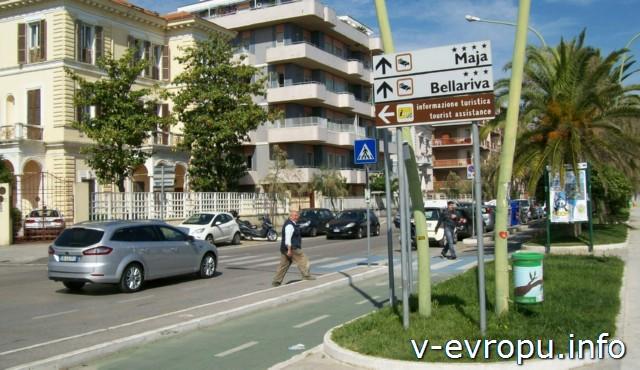Пескара. Италия. Указатель улиц