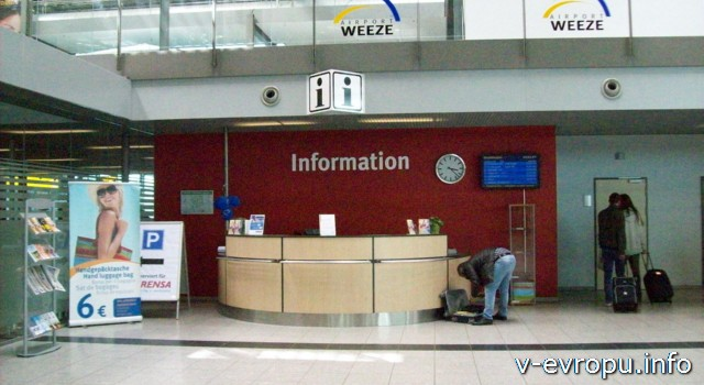 Аэропорт Дюссельдофа Вееце Weeze - информационный пункт