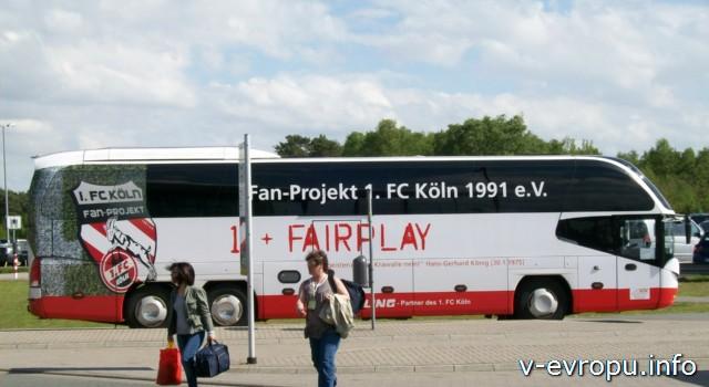 Автобус до Кёльна из аэропорта Веце под Дюссельдорфом