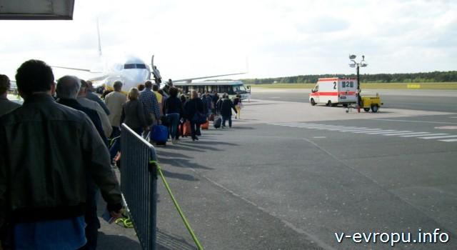 Аэропорт Дюссельдофа Вееце Weeze - посадка пассажиров