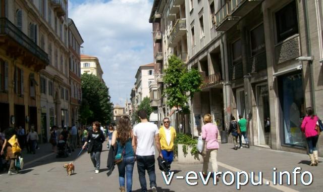 Улицы Анконы. Фото. Пешеходная улица Гарибальди