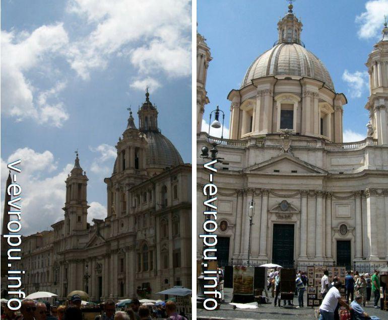Рим. Церковь Святой Агнессы ин Агоне. май 2013 года