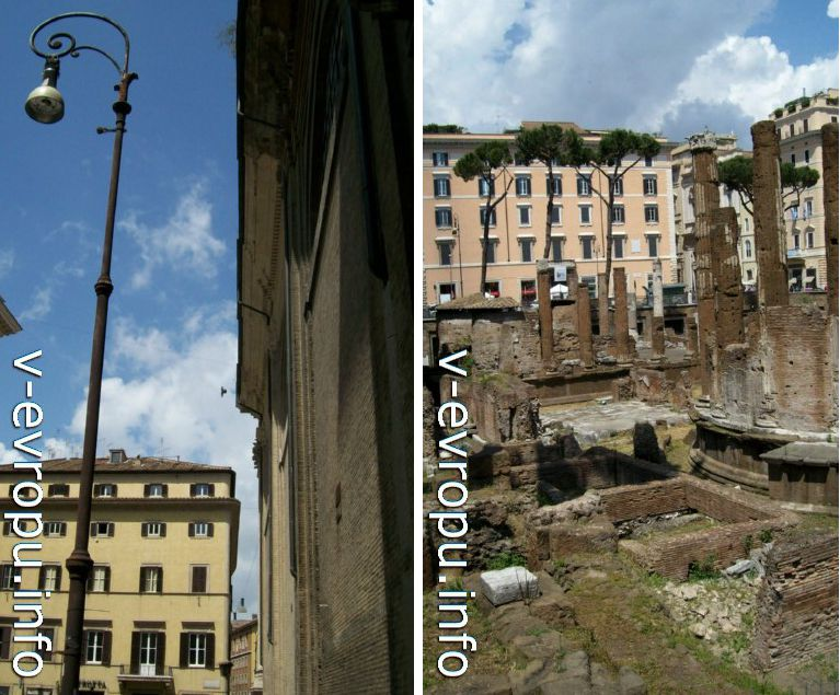 Area Sacra - достопримечательность древнего Рима в центре города