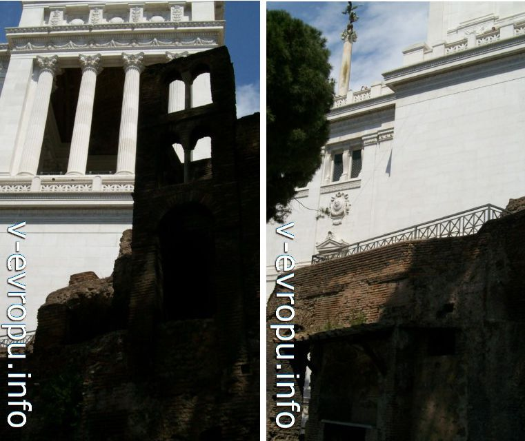 Рим. Инсула Арачели с видом на  Витториано