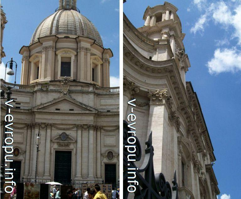 Фасад Церкви Сант Аньезе ин Агоне, созданный по проекту Райнальди и доведенный Борромини