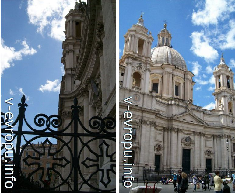 Рим. Церковь Святой Агнессы ин Агоне