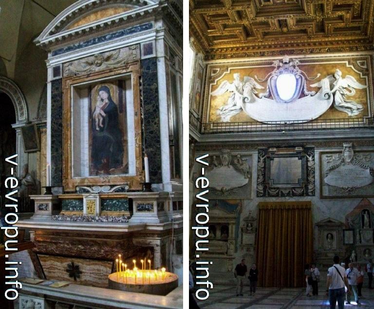 Иконы и барельефы интерьера церкви Святой Марии Жертвенника Небесного