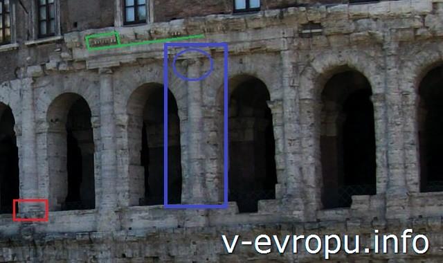 Рим. Театр Марцелла. Ионический ордер второго этажа