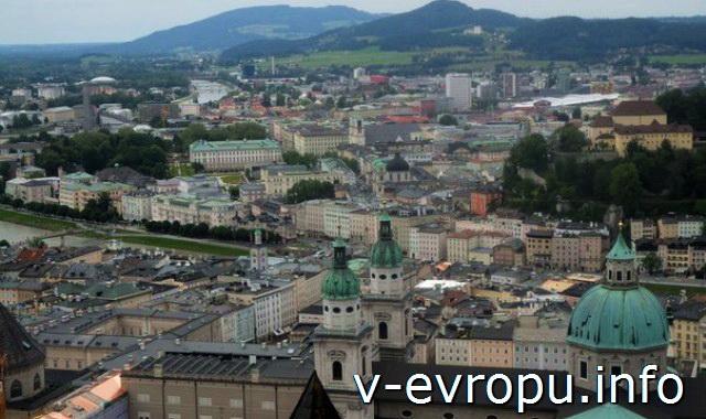 Из Мюнхена в Зальцбург на 1 день. Вид на город.Зальцбург
