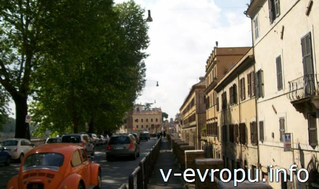 Узкие дороги в центре Рима