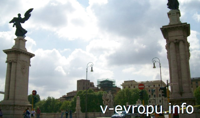 Мост ВИтторио Эмануила-II в Риме
