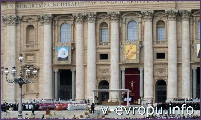 Рим. Собор Святого Петра на воскресной проповеди Папы Римского
