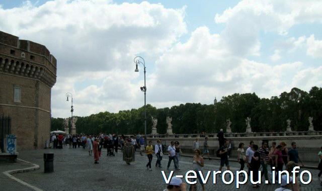 Мосты Рима: мост Святого Ангела