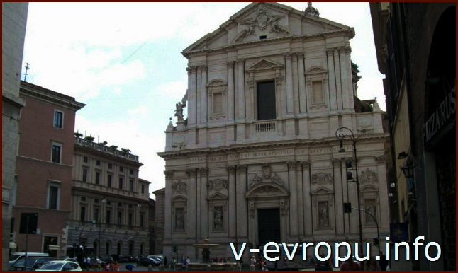 Рим. Фасад Церкви Сан Андреа делла Валле