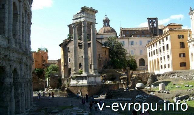 Рим. Развалины портика у театра Марцелла