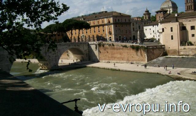 Мосты Рима: мост Честио через Тибр