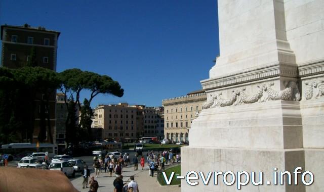 Рим. Площадь перед музеем Рисорджименто