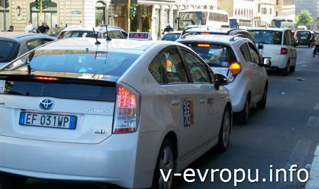 Транспорт Рима. Фото. Такси
