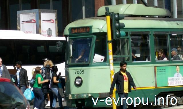 Трамваи Рима. Фото