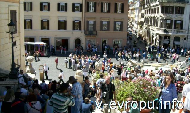 Рим для туристов: самые популярные районы города - площадь Испании