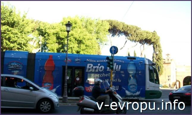 Рим. Общественный транспорт Рима: трамвай
