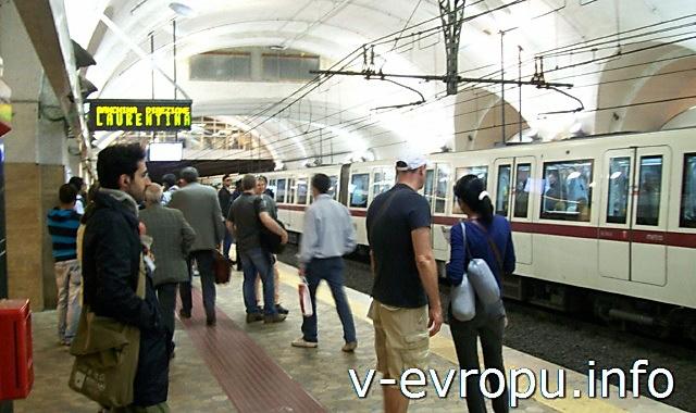 Рим. Метро и электрички. Фото. Станция метро