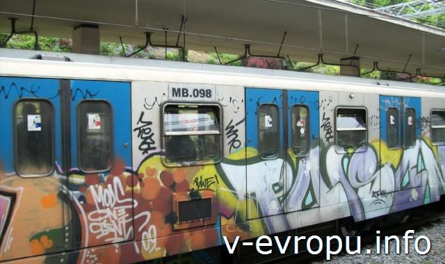 Транспорт Рима. Фото. Электрички Рима, включенные в систему городского общественного транспонрта