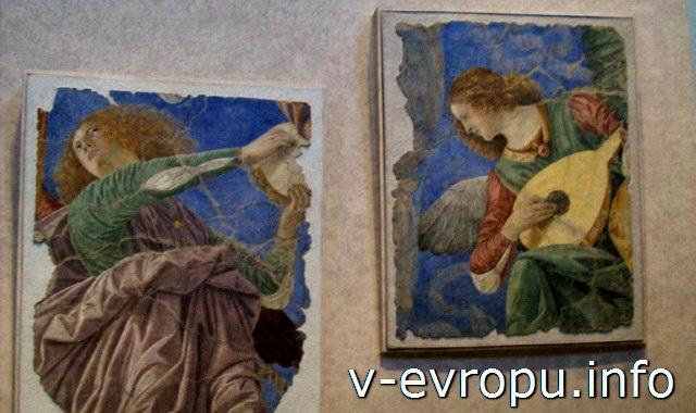 """""""Ангелы""""  Мелоццо да Форли в Ватиканской пинакотеке. Конец 15 века"""