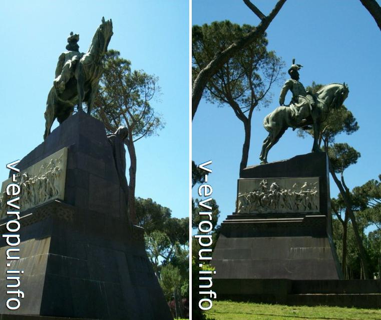 Рим. Конная статуя Умберто-I в Парке Боргезе