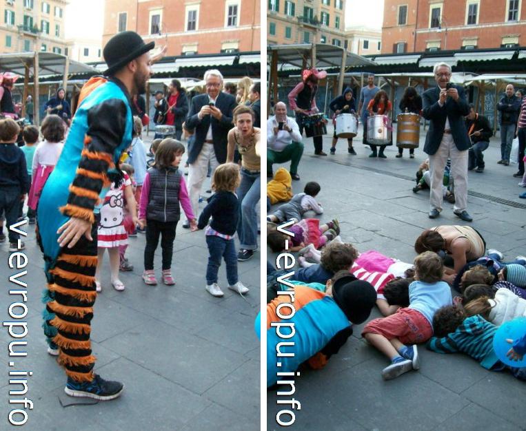 Рим. Уличные музыканты в Трастевере