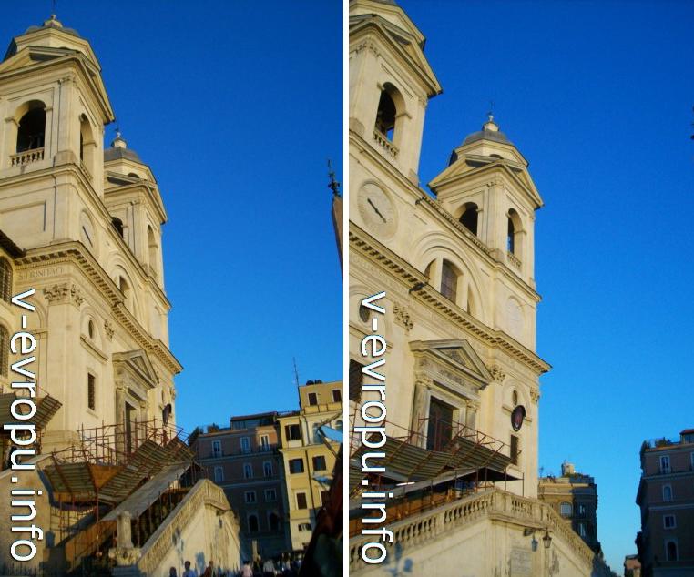 Фасад Santissima-Trinità-dei-Monti (1587г)