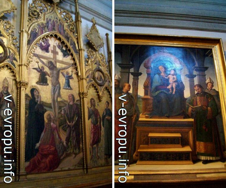 Ватиканская Пинакотека. Справа Pietro Perugino, Pala dei Decemviri (1496)