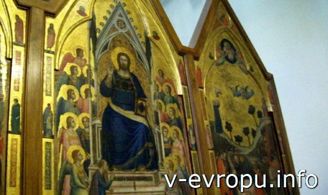 """Ватиканская Пинакотека. """"Триптих Стефанески"""", Джотто. Около 1320г"""