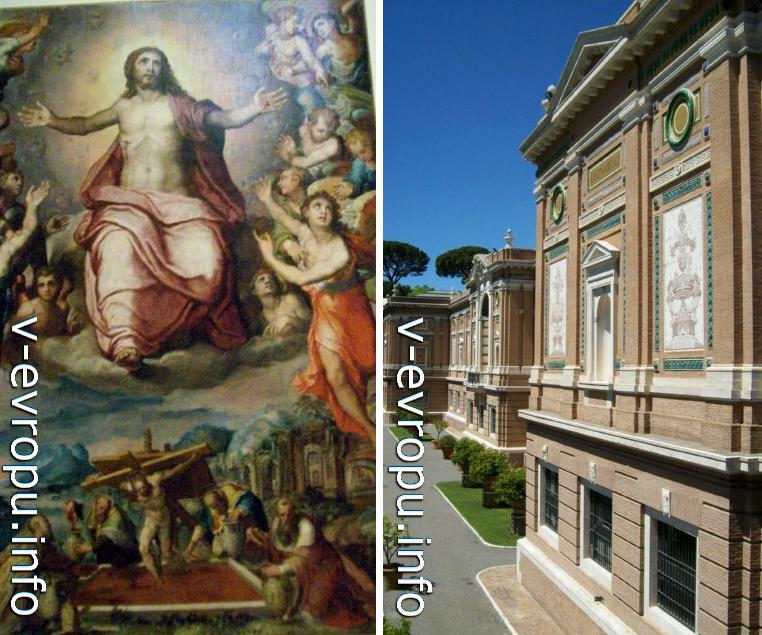 Знание Ватиканской Пинакотеки (справа). Архитектор Л.Бельтрами, начало 20 века