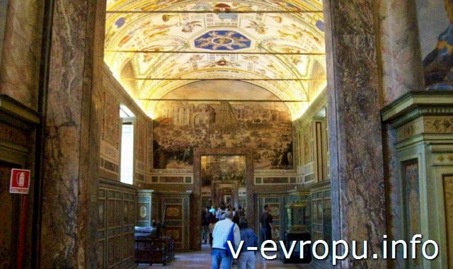 Внутренний декор ватиканских музеев