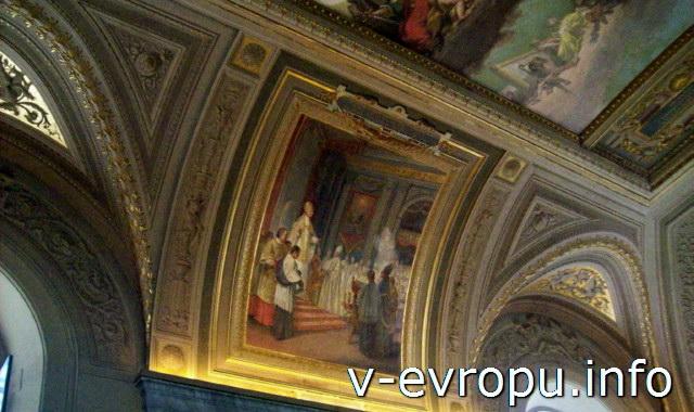 Потолок в ватиканском Музее
