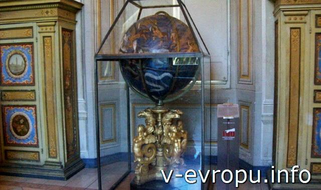 Старинный глобус в Ватиканском Музее