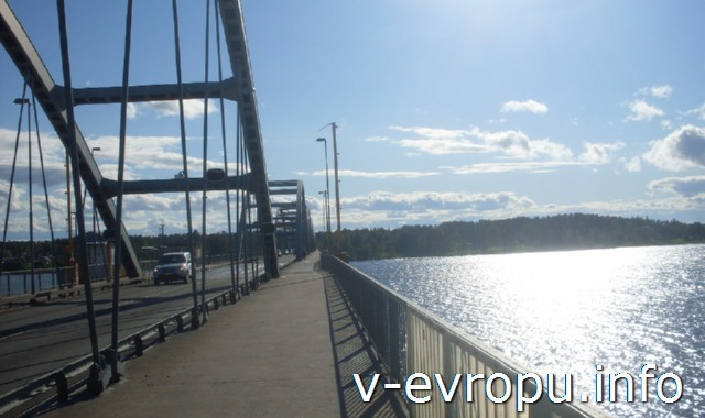Велосипедные дороги в Швеции. Мост через пеку Лулео