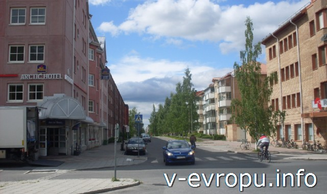 Лулео. Швеция. Улицы города