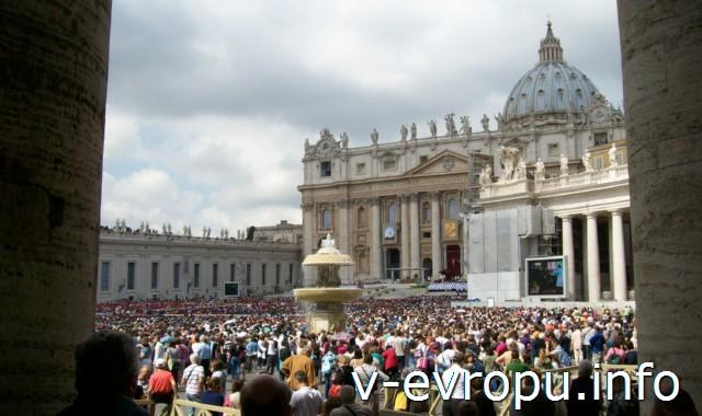 Рим. Воскресная проповедь Папы - самая необычная достопримечательность
