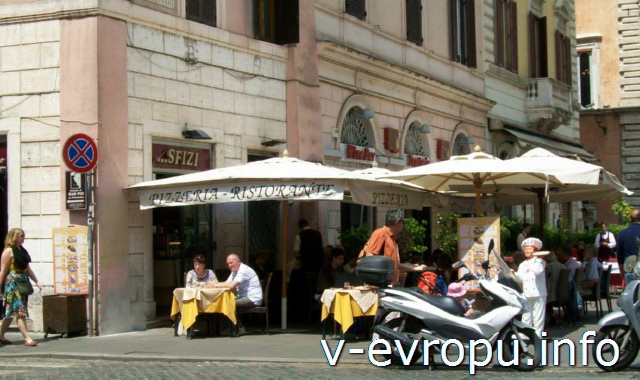 Еда в Риме в ресторанах, кафе, тратториях. остериях