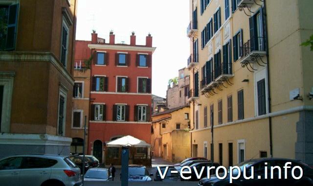 Район Рима Трастевере. Фото