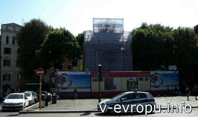 Рим. Достопримечательности района Трастевере постоянно реконструируются