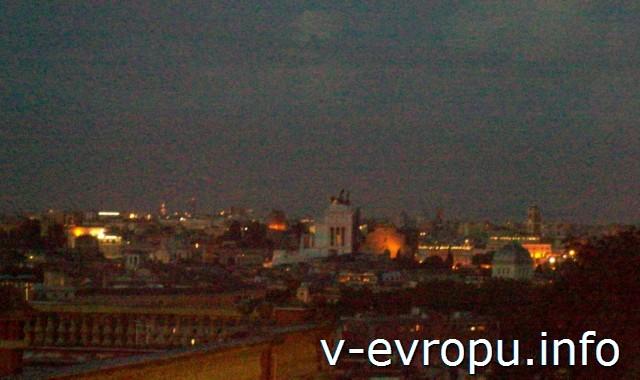 Ночной Рим с холма Яникул