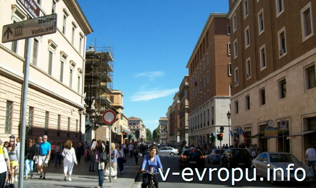 Указатель, как пройти в Музеи Ватикана