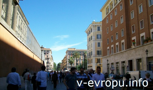 По дороге в Музеи Ватикана