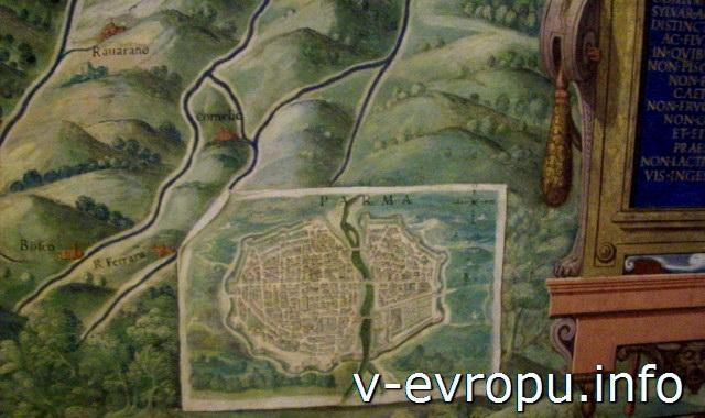 Галерея Карт Ватикана. Карта Пармы